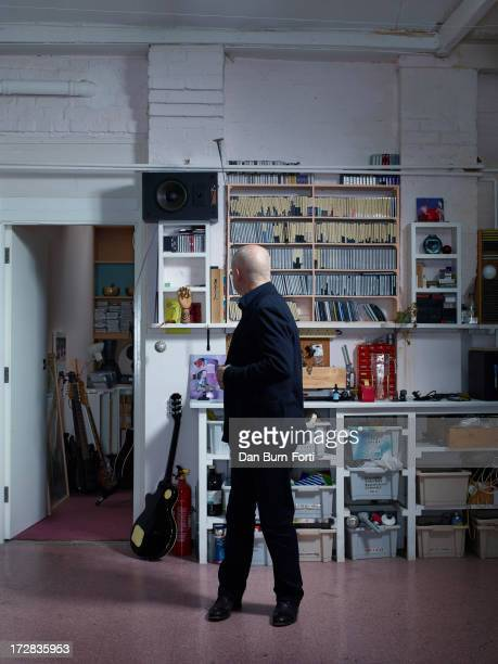 Musician composer producer Brian Eno is photographed for Wired magazine on March 6 2013 in London England