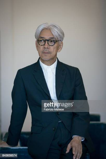 Musician composer record producer pianist activist writer actor and dancer Ryuichi Sakamoto is photographed on September 4 2017 in Venice Italy