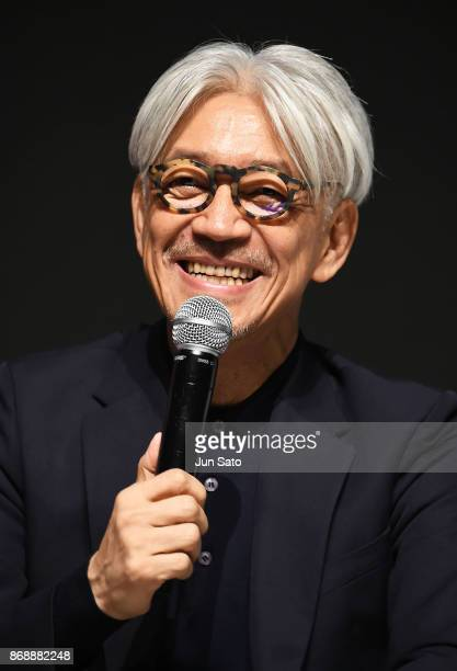 Musician/ composer Ryuichi Sakamoto attends the Visuals and Music talk event during the 30th Tokyo International Film Festival at Roppongi Hills on...