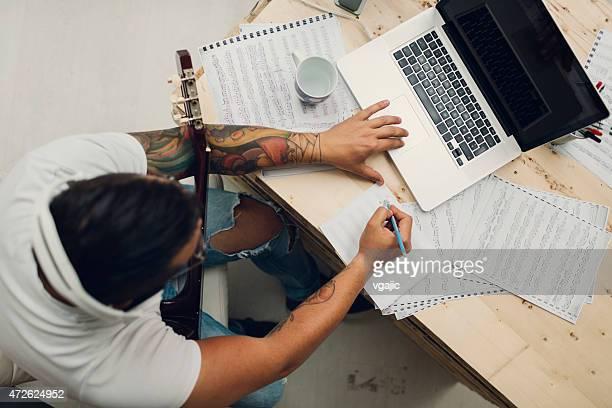 Musician Composing Music.