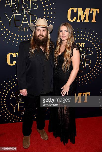 Musician Connie Britton and Morgane Stapleton attend the 2015 CMT Artists of the Year at Schermerhorn Symphony Center on December 2 2015 in Nashville...