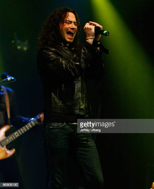 Musician Constantine Maroulis performs at the Highline Ballroom on January 20 2010 in New York City