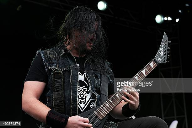 Musician Corey Beaulieu from Trivium performs during the 'Louder Than Life' festival at Champions Park on October 3 2015 in Louisville Kentucky