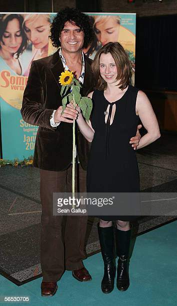 Musician Costa Cordalis and actress Inka Friedrich arrive for the premiere of the new German comedy film Sommer vorm Balcon January 5 2006 in Berlin...