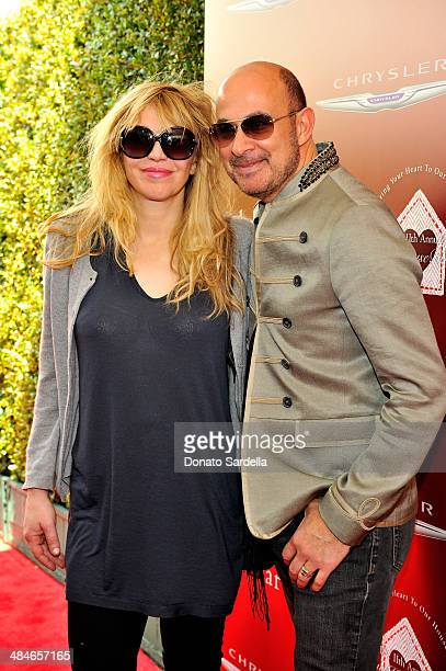 Musician Courtney Love and designer John Varvatos arrive at the John Varvatos 11th Annual Stuart House Benefit presented by Chrysler Kids Tent by by...