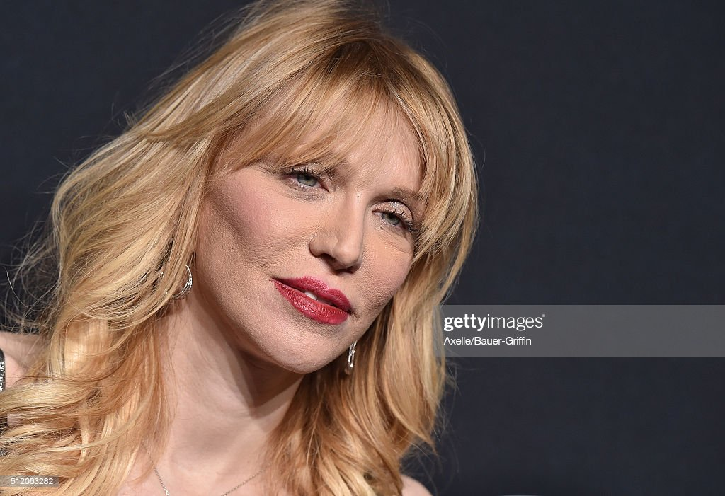 Musician Courtney Love arrives at SAINT LAURENT At The Palladium at Hollywood Palladium on February 10, 2016 in Los Angeles, California.
