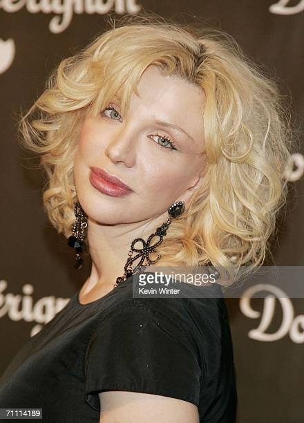 Musician Courtney Love arrives at the International Launch of Dom Perignon Rose Vintage 1996 Champagne by Karl Lagerfeld on June 2 2006 in Beverly...