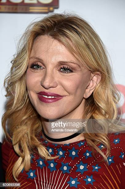 Musician Courtney Love arrives at the Opening Night of Hedwig and The Angry Inch at the Pantages Theatre on November 2 2016 in Hollywood California