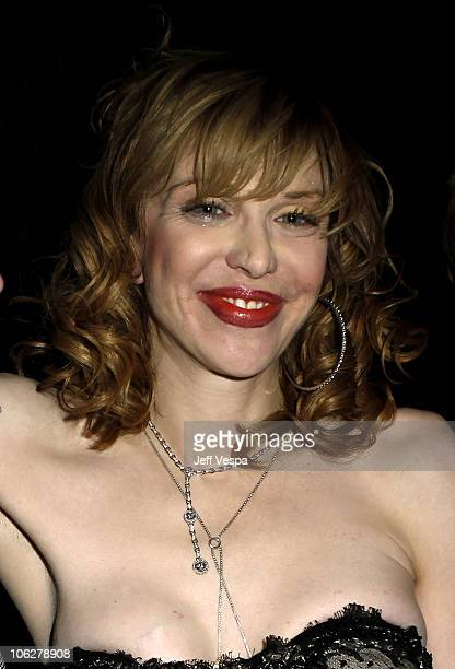 Musician Courtney Love attends the amfAR Inspiration Gala celebrating men's style with Piaget and DSquared 2 at Chateau Marmont on October 27 2010 in...