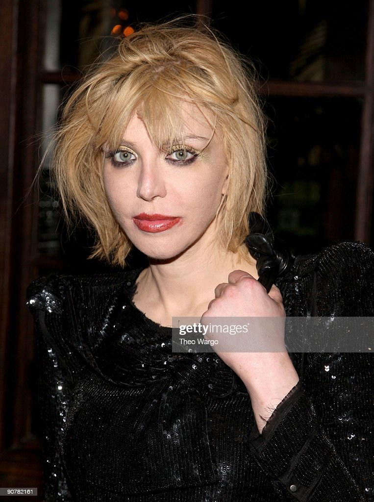 Musician Courtney Love attends the AnOther Magazine and Hudson Jeans Dinner at The Jane Hotel on September 14, 2009 in New York City.