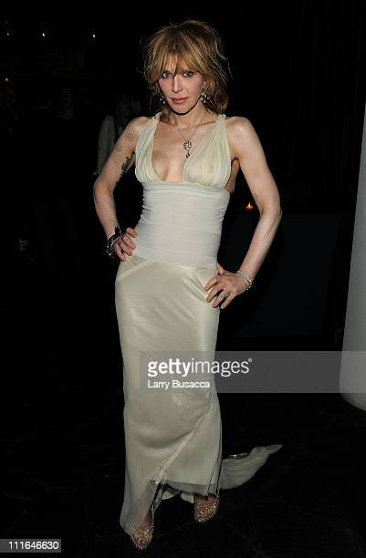 Musician Courtney Love attends the Cinema Society with DeLeon Tequila and Moving Pictures Film Television After Party Of 'Henry's Crime' at The...