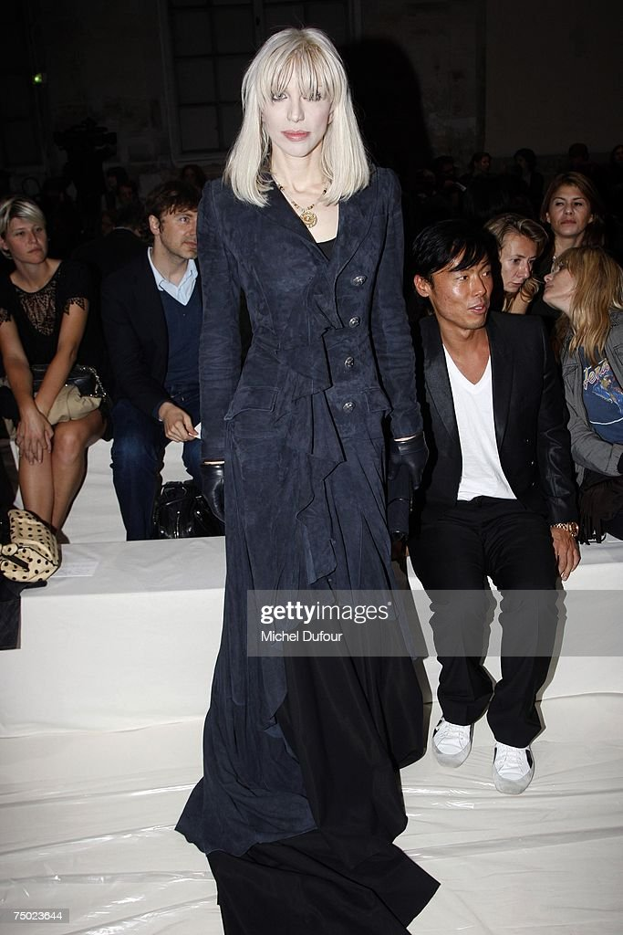Musician Courtney Love attends the Givenchy Fashion show, during Paris Fashion Week (Haute Couture) fall/winter 2007-08 at Couvent des cordeliers on July 3, 2007 in Paris, France.