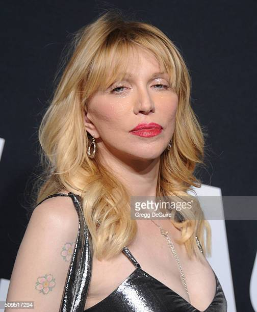 Musician Courtney Love attends the Saint Laurent show at The Hollywood Palladium on February 10 2016 in Los Angeles California