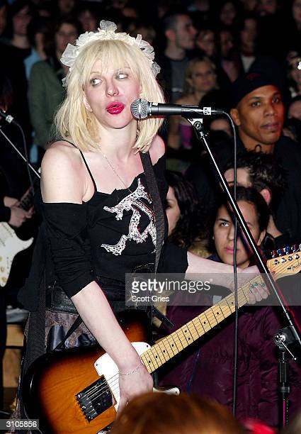 Musician Courtney Love performs at Plaid on March 17 2004 in New York City