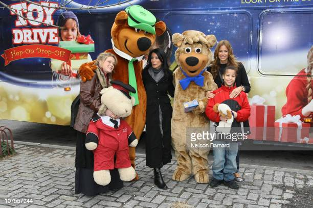 Musician Crystal Bowersox and TV personalities Danielle Staub and Kelly Bensimon along with Yogi Bear and Boo Boo attend CitySights NY's 2010 Holiday...