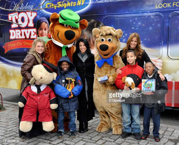 Musician Crystal Bowersox Yogi Bear Danielle Staub Boo Boo and Kelly Bensimon attend CitySights NY's 2010 Holiday Joy Toy Drive at The Children's Aid...