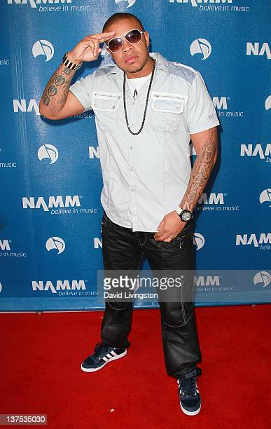 Musician Curtis Young attends the 110th NAMM Show Day 3 at the Anaheim Convention Center on January 21 2012 in Anaheim California