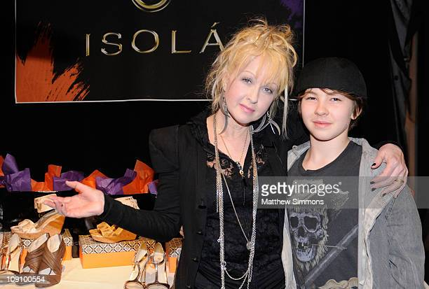 Musician Cyndi Lauper and Declyn Wallace Thornton Lauper attend the GRAMMY Gift Lounge during The 53rd Annual GRAMMY Award at Staples Center on...