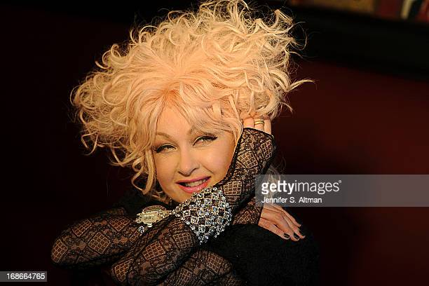 Musician Cyndi Lauper is photographed for Los Angeles Times on March 29 2013 at Sardis Restaurant in New York City