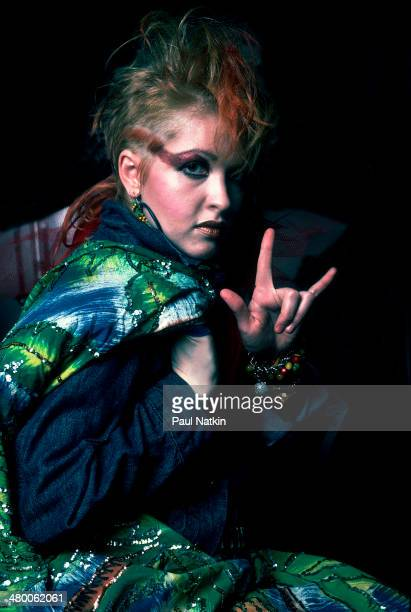 Musician Cyndi Lauper performs onstage Chicago Illinois April 24 1984