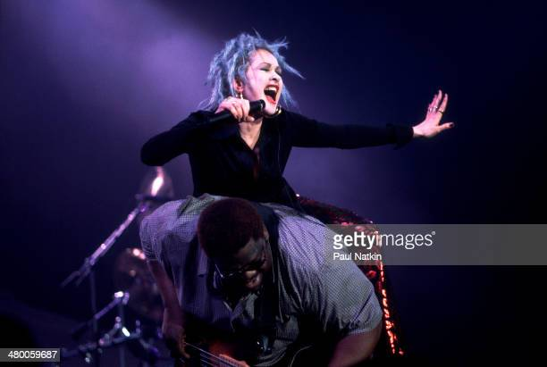 Musician Cyndi Lauper performs onstage Chicago Illinois September 2 1999