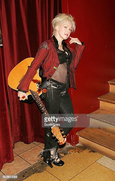 Musician Cyndi Lauper poses for a photo during a press preview for her new CD The Body Acoustic at Coda October 6 2005 in New York CIty