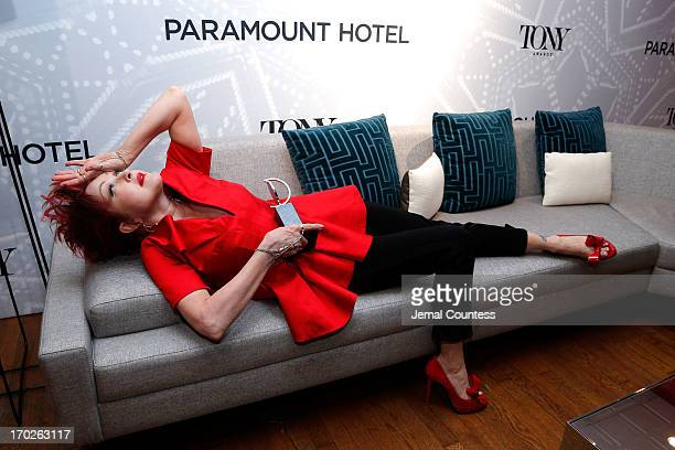 Musician Cyndi Lauper winner of the Tony Award for Best Original Score for 'Kinky Boots' attends The 67th Annual Tony Awards Paramount Hotel Winners'...