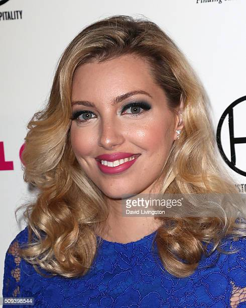Musician Dalal Bruchmann attends the Muses and Music party hosted by NYLON Magazine at No Vacancy on February 9 2016 in Los Angeles California