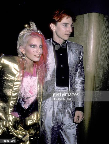 Musician Dale Bozzio and musician Terry Bozzio on August 25 1984 party at Private Eyes in New York City