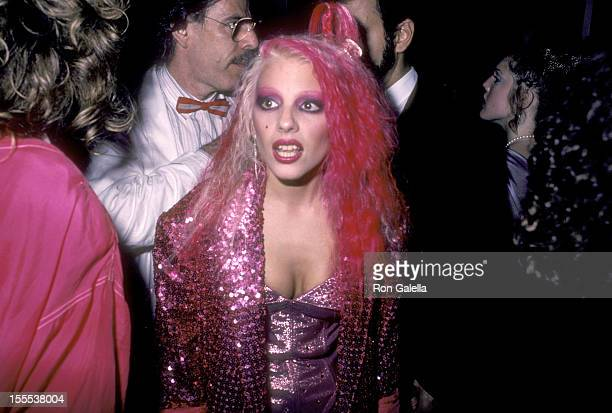Musician Dale Bozzio attends the First Annual MTV Video Music Awards After Party hosted by Dan Aykroyd on September 14 1984 at the Hard Rock Cafe in...