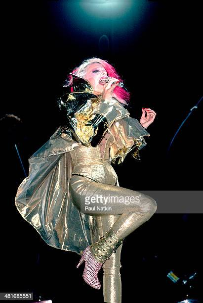 Musician Dale Bozzio of the group Missing Persons performs onstage Chicago Illinois August 7 1984