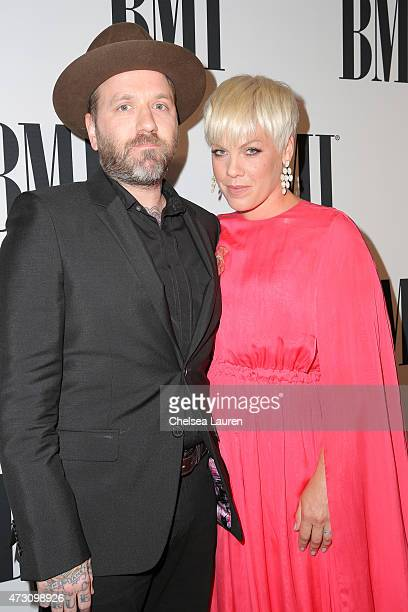 Musician Dallas Green and honoree Pnk attend the 63rd Annual BMI Pop Awards held at the Beverly Wilshire Hotel on May 12 2015 in Beverly Hills...