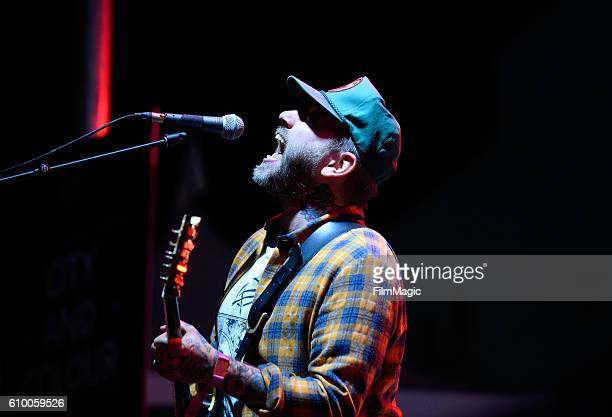 Musician Dallas Green of City and Colour performs on Huntridge Stage during day 1 of the 2016 Life Is Beautiful festival on September 23 2016 in Las...