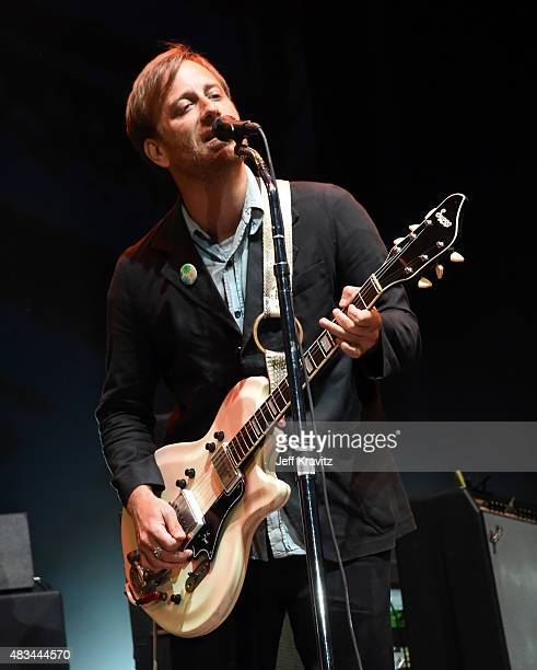 Musician Dan Auerbach of The Black Keys performs at the Lands End Stage during day 2 of the 2015 Outside Lands Music And Arts Festival at Golden Gate...