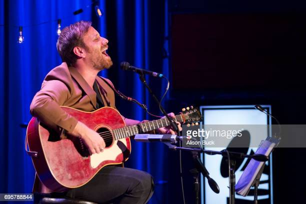 Musician Dan Auerbach performs onstage during The Drop Dan Auerbach at The GRAMMY Museum on June 13 2017 in Los Angeles California