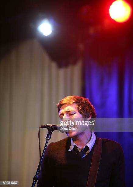 Musician Dan Layus of Augustana performs at the Tribeca ASCAP Music Lounge held at the Canal Room during the 2008 Tribeca Film Festival on May 1,...