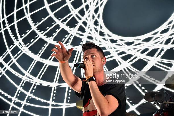 Musician Dan Smith of Bastille performs onstage at the MercedesBenz 2015 Evolution Tour kickoff on June 24 2015 in New York City