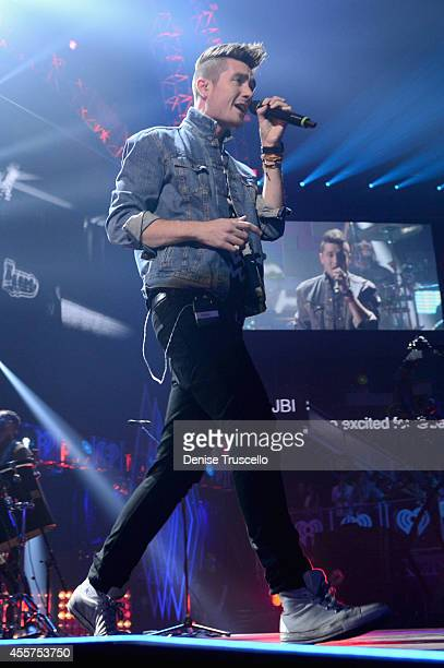 Musician Dan Smith of Bastille performs onstage during the 2014 iHeartRadio Music Festival at the MGM Grand Garden Arena on September 19 2014 in Las...