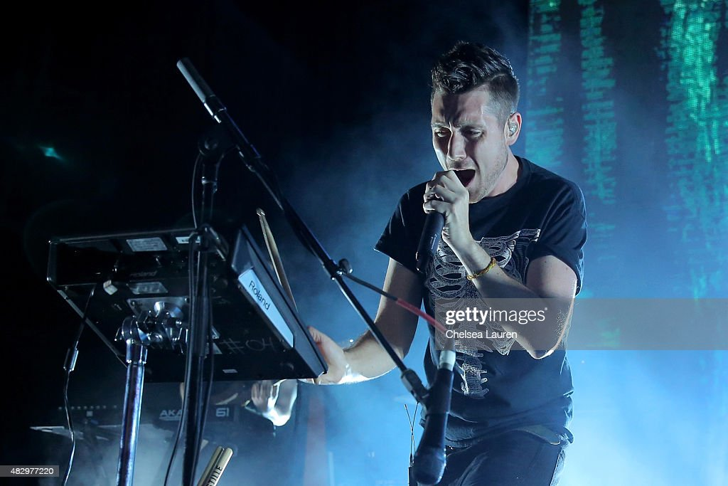 Musician Dan Smith of Bastille performs onstage during the Mercedes-Benz 2015 Evolution Tour on August 4, 2015 in Los Angeles, California.