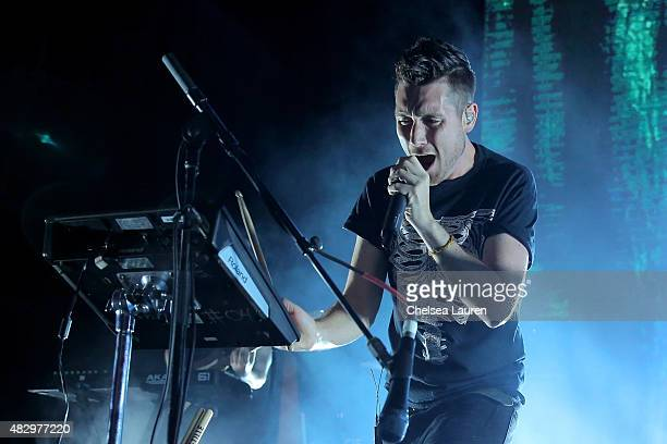 Musician Dan Smith of Bastille performs onstage during the MercedesBenz 2015 Evolution Tour on August 4 2015 in Los Angeles California