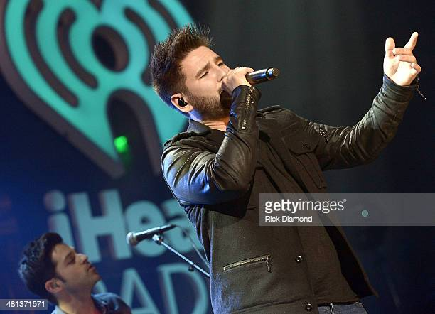 Musician Dan Smyers of Dan Shay performs onstage during iHeartRadio Country Festival in Austin at the Frank Erwin Center on March 29 2014 in Austin...