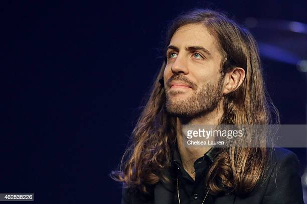 Musician Daniel Wayne Sermon of Imagine Dragons attends their 'Smoke Mirrors' North American tour announcement at The Mayan on February 5 2015 in Los...