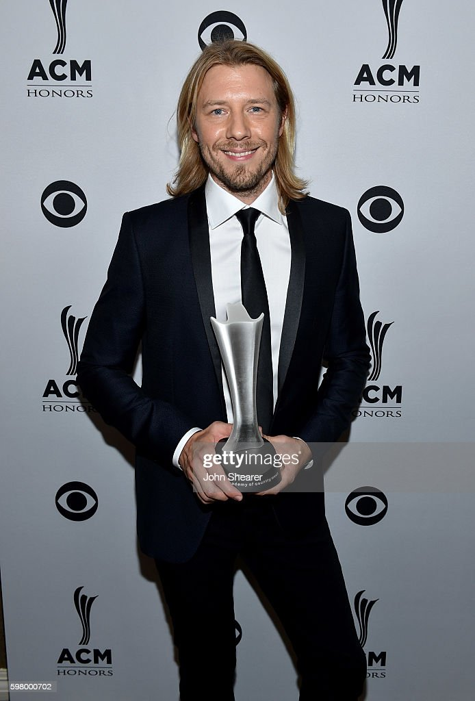 Musician Danny Rader receives the Specialty Instrument(s) of the Year Award during the 10th Annual ACM Honors at the Ryman Auditorium on August 30, 2016 in Nashville, Tennessee.