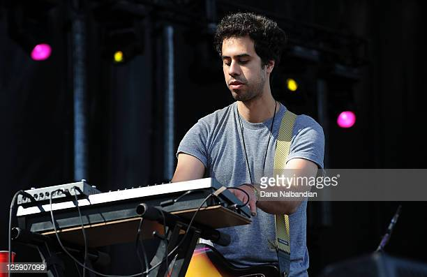 Musician Dante DeCaro of Wolf Parade performs at the Sasquatch Festival at The Gorge on May 28 2011 in George Washington