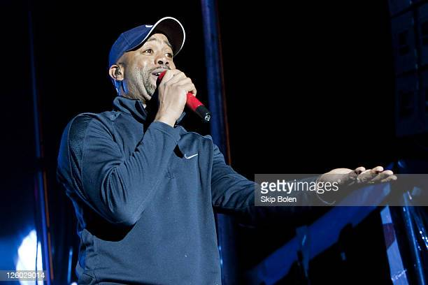 Musician Darius Rucker performs at the 2011 Allstate Fan Fest on January 3 2011 in New Orleans Louisiana