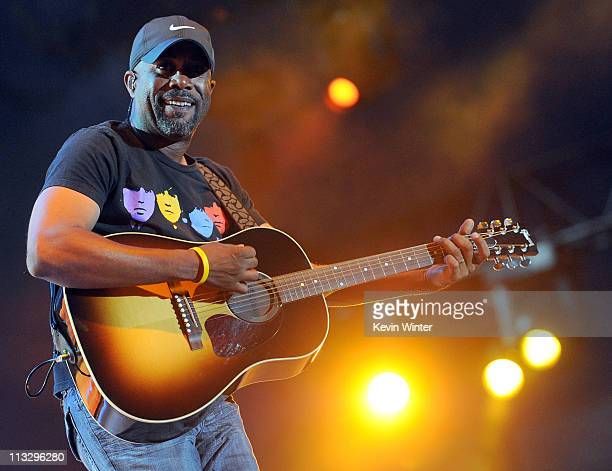 Musician Darius Rucker performs onstage during 2011 Stagecoach California's Country Music Festival at the Empire Polo Club on April 30 2011 in Indio...