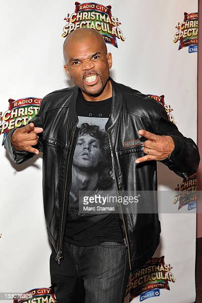 """Musician Darryl """"DMC"""" McDaniels attends the 2011 Radio City Christmas Spectacular opening night at Radio City Music Hall on November 16, 2011 in New..."""