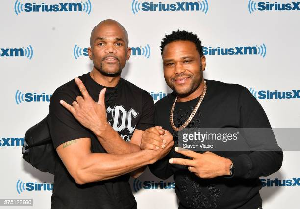 Musician Darryl McDaniels and actor Anthony Anderson visit SiriusXM Studios on November 16 2017 in New York City