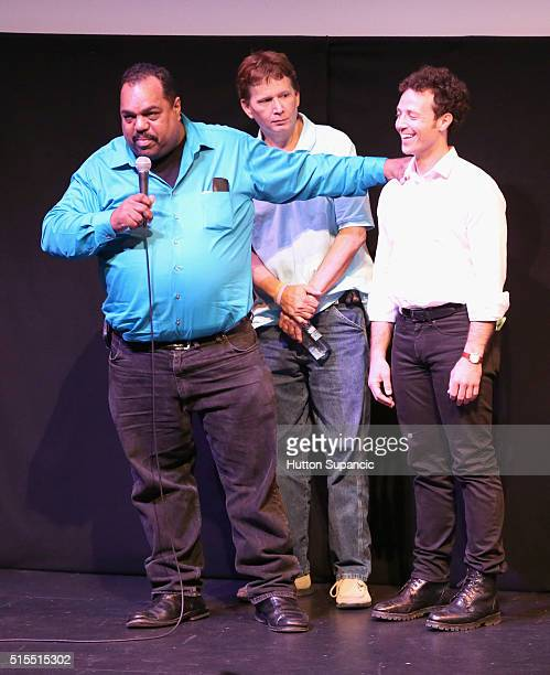 Musician Daryl Davis actor Scott Shepard and producer Noah Ornstein attend the premiere of Accidental Courtesy Daryl Davis Race America during the...