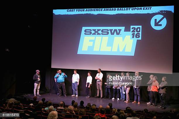 Musician Daryl Davis actor Scott Shepard producer producer Noah Ornstein and producer Roberto Alcantara with cast and crew speak onstage at the...